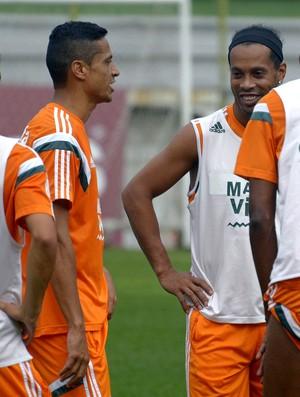 Ronaldinho treino Fluminense Laranjeiras (Foto: Mailson Santana/Fluminense F.C.)