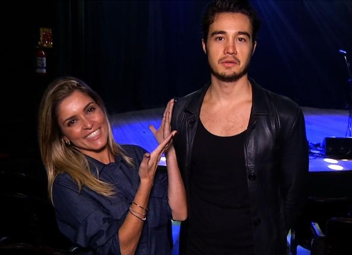 Diana Sabadini conversou com o cantor Tiago Iorc (Foto: Plugue)