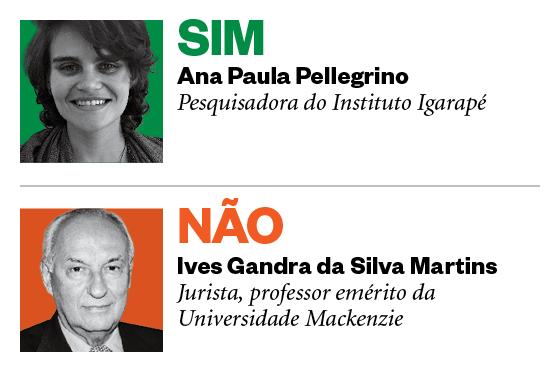 Debatedores Drogas: Ana Paula Pellegrino e Ives Gandra da Silva Martins (Foto: Época)