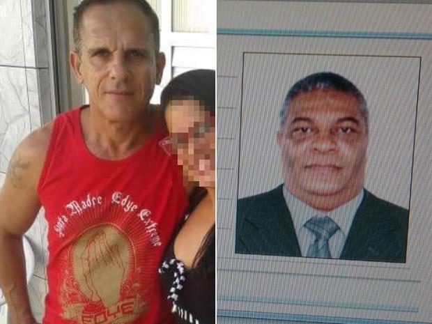 O PM Tairone, á esquerda, e o policial civil Agnaldo Almeida, à direita, foram mortos durante o assalto (Foto: Divulgação/Polícia Civil)