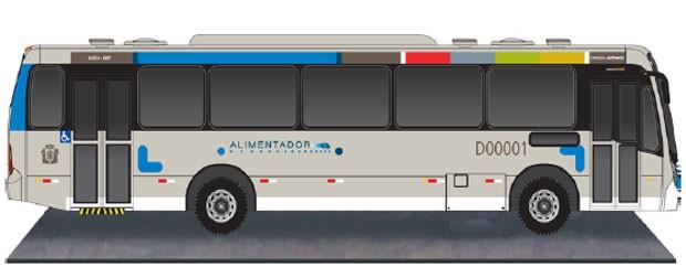 Todos os ônibus seguirão o layout já estabelecido pelos consórcios. (Foto: Divulgação)