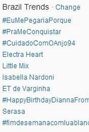 Trending Topics no Brasil às 17h07 (Foto: Reprodução/Twitter.com)