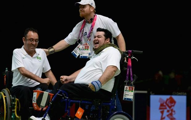Dirceu Pinto e Eliseu dos Santos bocha paralimpíadas (Foto: Getty Images)