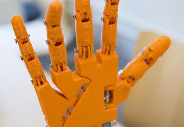 Prótese de mão feita em impressora 3D (Foto: Thinkstock)