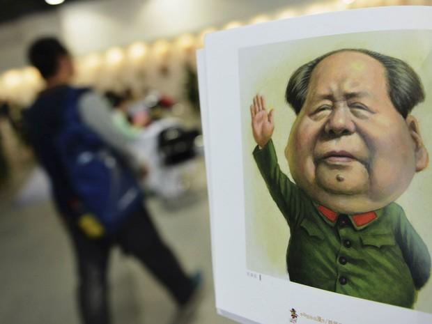Caricatura do líder da Revolução Chinesa, Mao Tse Tung (Foto: Stinger/Reuters)