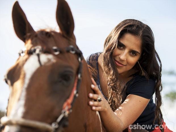 Camilla Camargo será Ana, uma domadora de cavalos (Foto: Inácio Moraes / TV Globo)