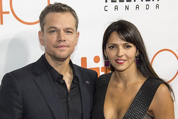 Matt Damon e Luciana Barroso (Foto: Getty Images)