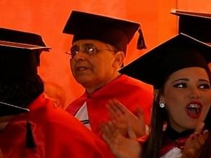 João Dias, de 69 anos, deixou de pagar plano de saúde para se formar em direito, em Rio Verde, Goiás (Foto: Reprodução/TV Anhanguera)