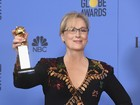 Meryl Streep emociona Globo de Ouro com discurso crítico a Donald Trump