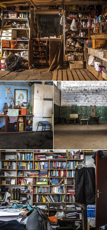 A pilha de caixas a serem carregadas, o sótão e todos os seus objetos, a simples cozinha se transforma em arte sob a visão do fotógrafo (Foto: Rafael Simioni / Arquivo pessoal)