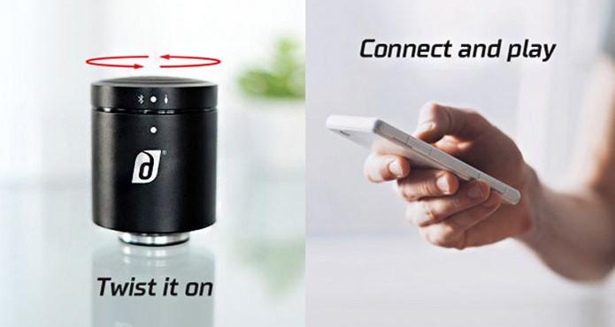 Basta conectar a caixa de som com o celular para funcionar (Foto: Divulgação/Indiegogo)
