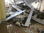 Capela desaba completamente após forte chuva em Santos
