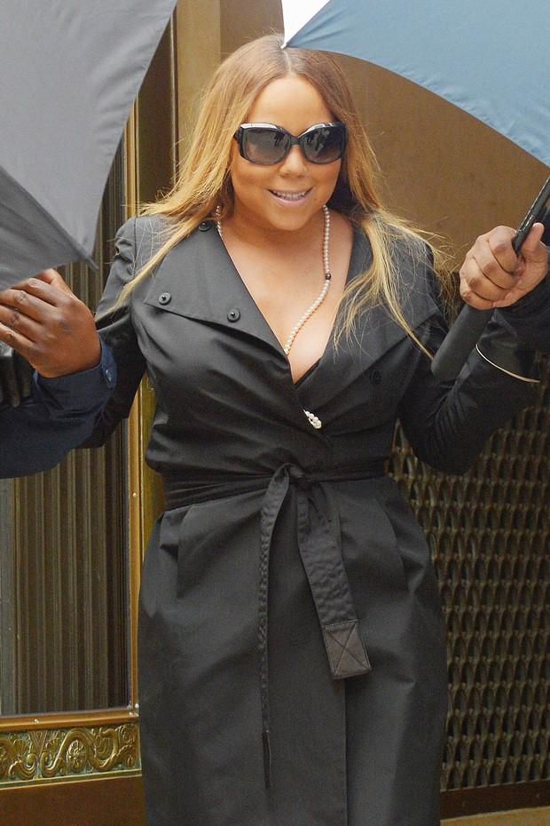 Mariah Carey em Nova York, nos Estados Unidos (Foto: AKM-GSI Brasil/ Splash News)