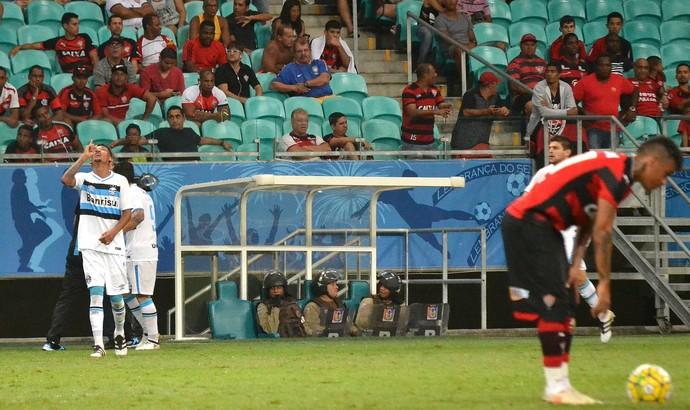 Gol; Vitória x Grêmio (Foto: Futura Press)