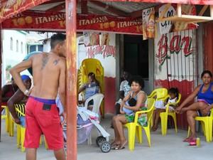 Bar Même Amour, no bairro Jardim Eldorado, em Cuiabá. (Foto: André Souza/G1)