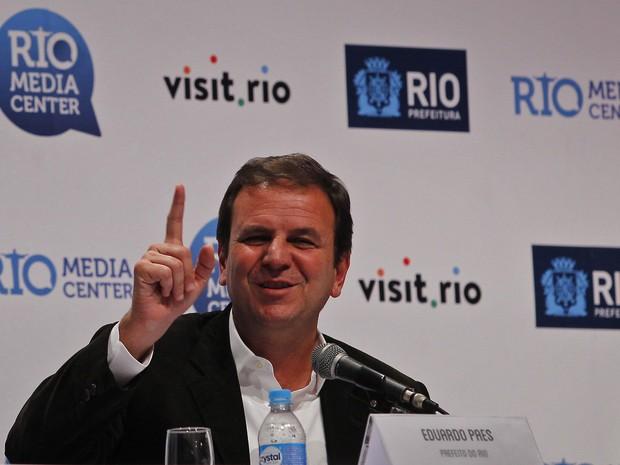 Eduardo Paes apresenta balanço da Olimpíada no Rio de janeiro (Foto: Luiz Ackermann/Agência O Globo)