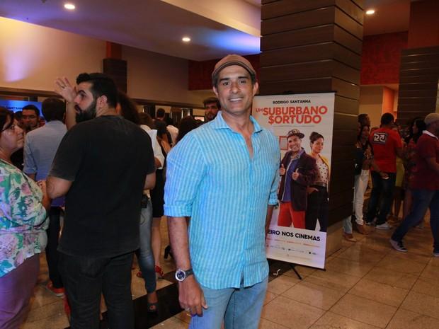 Marcos Pasquim em pré-estreia de filme na Zona Oeste do Rio (Foto: Marcello Sá Barretto/ Ag. News)
