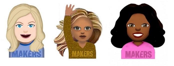 Amy Poehler, Beyoncé e Oprah Winfrey viram emojis (Foto: Reprodução/Makers)