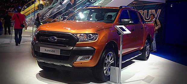 Ford Ranger no Salão de Frankfurt 2015 (Foto: Giulia Lanzuolo/Autoesporte)