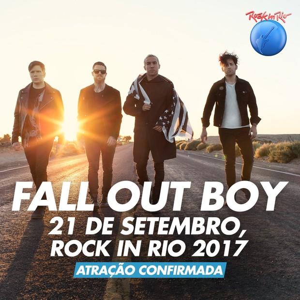 Fall Out Boy no Rock in Rio (Foto: Divulgação)