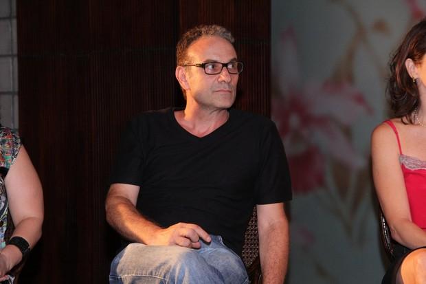Marco Ricca na coletiva do seriado Doce de Mãe (Foto: Alex Palarea/AgNews)