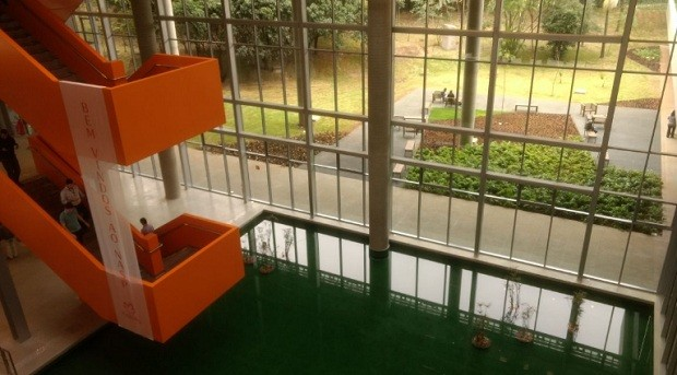 Ambiente interno do novo prédio da Natura (Foto: Daniela Frabasile/Época NEGÓCIOS)