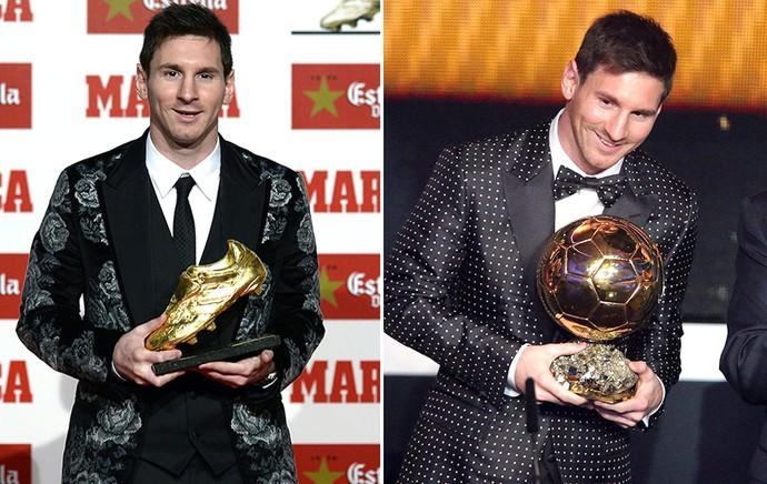 Montagem Messi prêmio terno (Foto: Editoria de Arte)