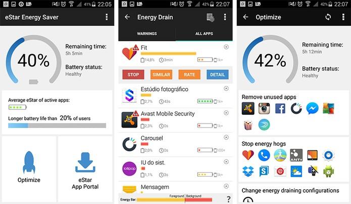 eStar Energy Saver gerencia o gasto da bateria do Android (Foto: Reprodução/Barbara Mannara)