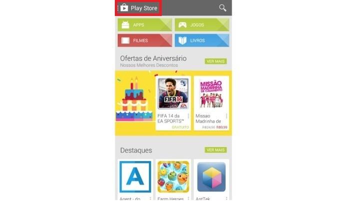 Recuperando app na Play Store (Foto: Reprodução/Lívia Dâmaso)