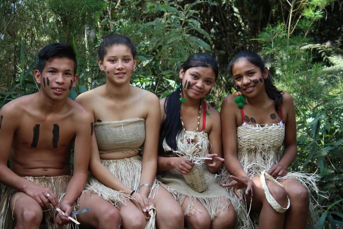Alunos têm vivencias semelhantes aos antepassados, como mostrou o Mistura  (Foto: RBS TV/Divulgação )