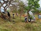 Policial está internado em Uberlândia após capotar carro perto de Prata