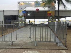 Tenda 2 fica na praia do Gonzaga, em Santos (Foto: Carlos Abelha/Arquivo Pessoal)