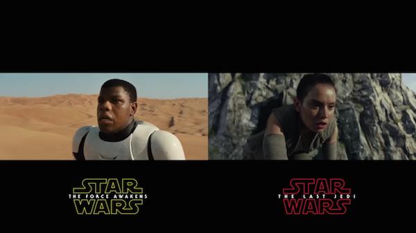 As cenas iniciais dos dois trailers dos novos filmes da saga Star Wars (Foto: Reprodução)