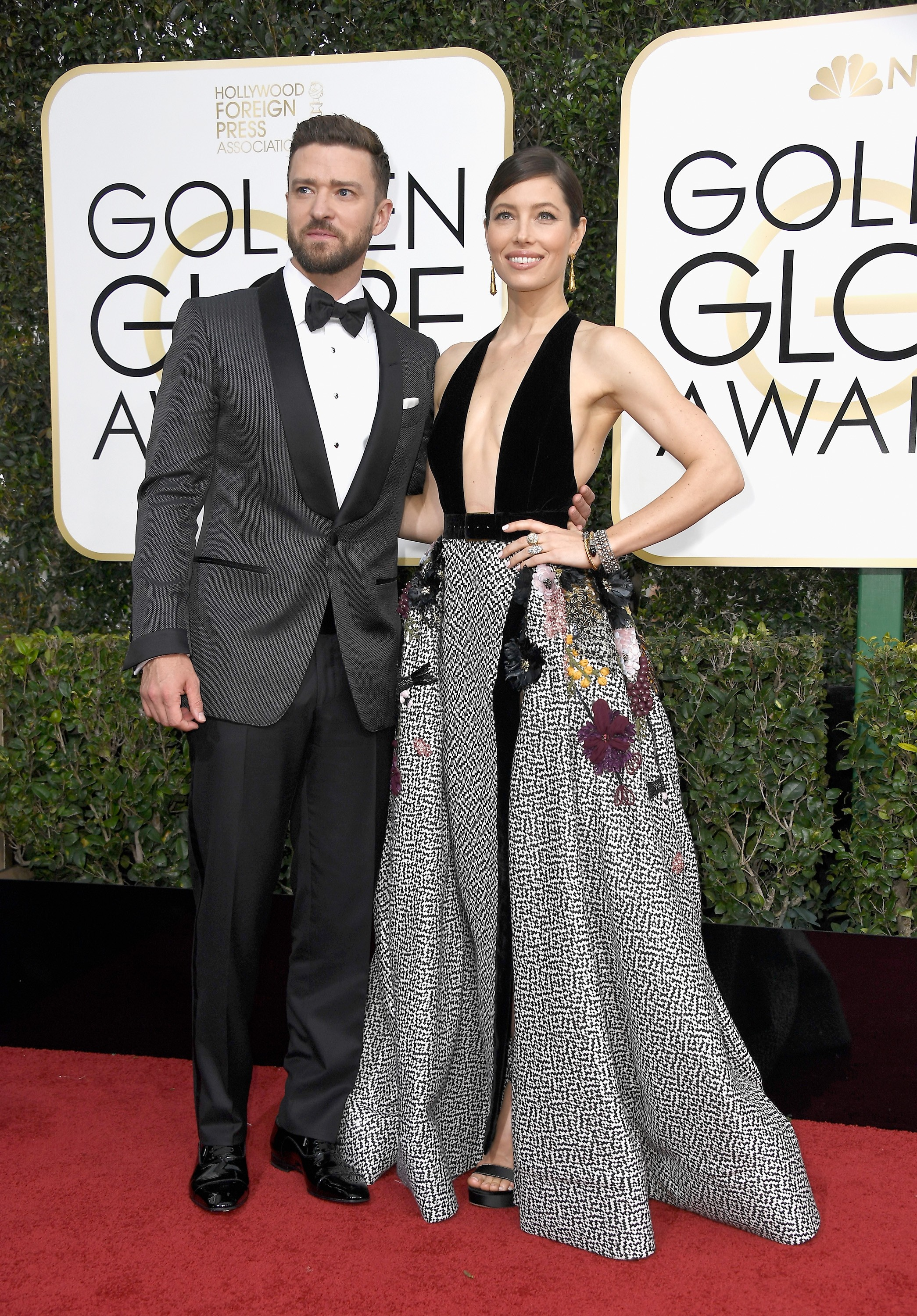 BEVERLY HILLS, CA - JANUARY 08:  Singer/actor Justin Timberlake (L) and actress Jessica Biel attend the 74th Annual Golden Globe Awards at The Beverly Hilton Hotel on January 8, 2017 in Beverly Hills, California.  (Photo by Frazer Harrison/Getty Images) (Foto: Getty Images)