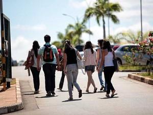 Candidatos para vestibular em campus I da PUC-Campinas (Foto: Álvaro Júnior/PUC-Campinas)
