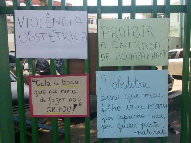 Manifestação silenciosa, Hospital da Mulher Mãe Luzia, Macapá, Amapá (Foto: Jorge Abreu/G1)