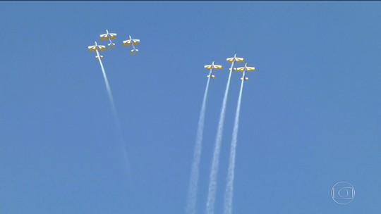 EPTV é a 1ª emissora a voar nos Super Tucanos A-29 da Esquadrilha da Fumaça; veja o vídeo