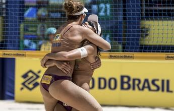 Larissa e Talita arrastam tudo em Maceió: teve tri e título da etapa
