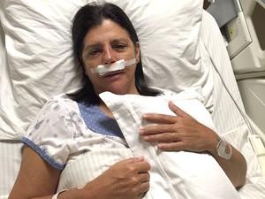 Ex-governadora do Maranhão Roseana Sarney se recupera de cirurgia no rosto (Foto: Divulgação)