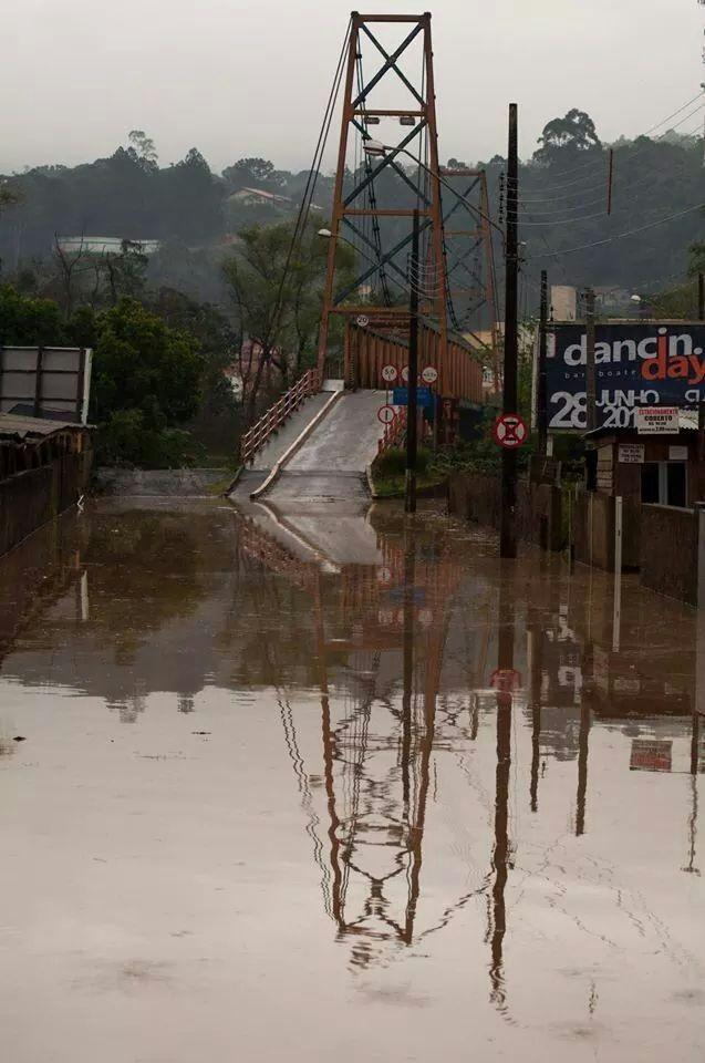 Rio do Sul registra alagamento em mais de 10 bairros (Foto: Orlando Pereira/Divulgação)