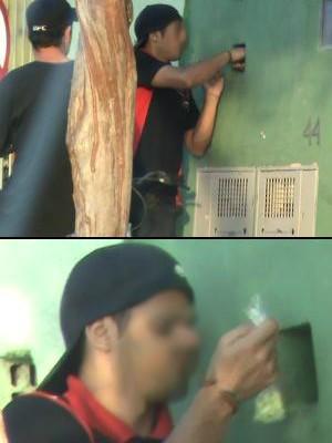 Policiais flagraram os traficantes pegando a droga em um dos diversos pontos de tráfico encontrados. (Foto: Divulgação / Dise)