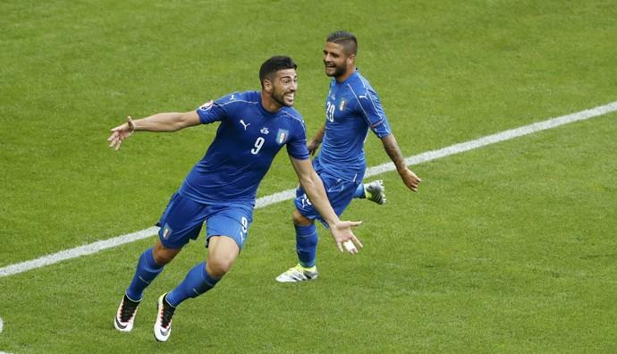 Pellè Itália x Espanha (Foto: Reuters)