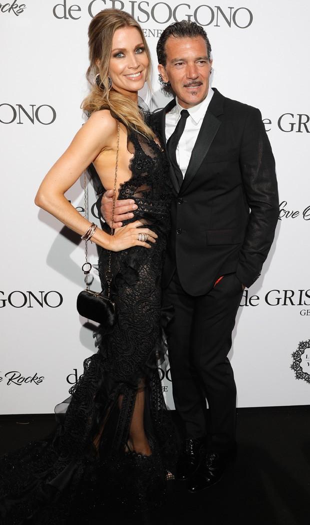 O casal Antonio Banderas e Nicole Kimpel (Foto: Getty Images)