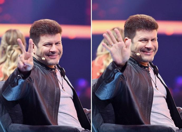 Paulo Ricardo dando tchauzinho para plateia no SuperStar (Foto: Isabella Pinheiro/ Gshow)