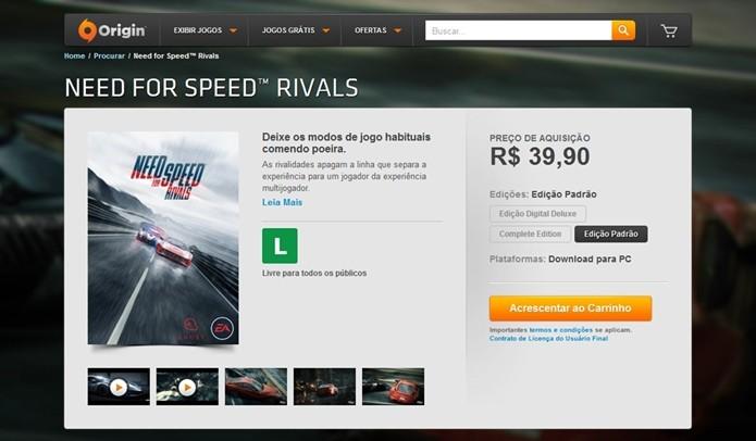 Baixe o Origin para jogar o game no PC (Foto:Reprodução/Cássio Barbosa)