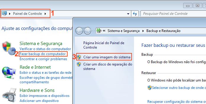 Criando uma imagem do sistema no Windows (Foto: Reprodução/Edivaldo Brito)
