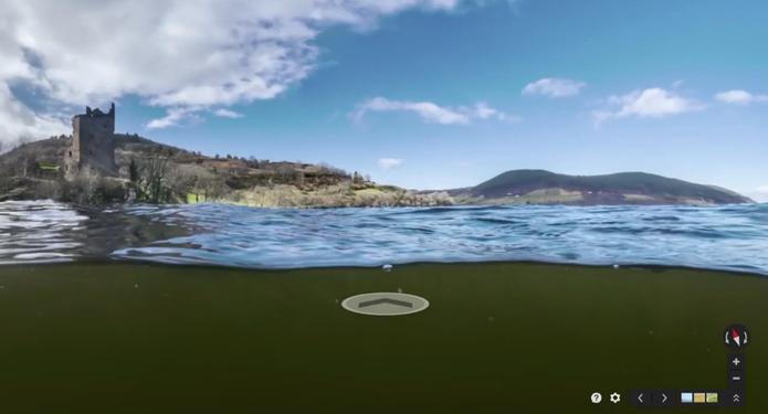 Lago Ness passa a integrar projeto Views, do Google Maps  (Foto: Reprodução/Google Street View)