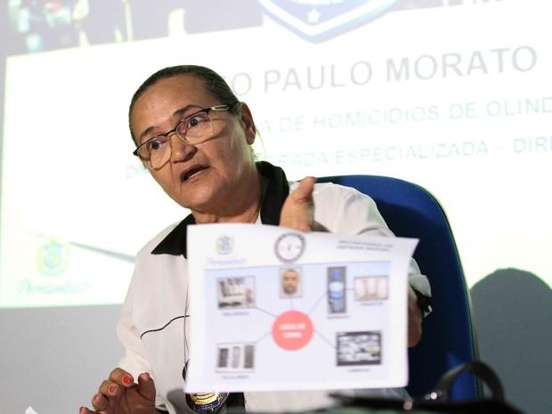 Perita Vanja Coelho detalhou o trabalho da perícia no caso Morato (Foto: Marlon Costa/Pernambuco Press)
