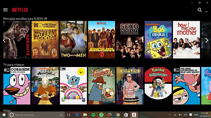 Netflix traz filmes, animes, séries e outros conteúdos para diversas plataformas (Foto: Reprodução/Elson de Souza)