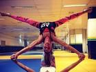 Bia e Branca Feres mostram equilíbrio e flexibilidade em foto